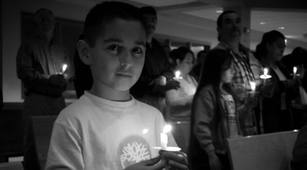 A candle and promoting hope