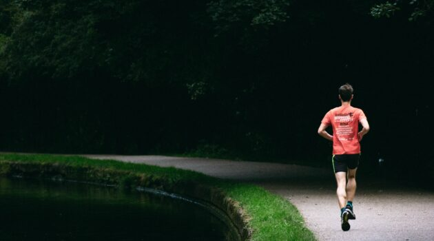 Running is great as a grounding exercise